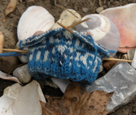 Tidal sock with seashells