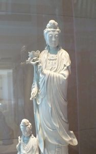 Kuan Yin statuary at the Trammel and Margaret Crow Collection of Asian Art