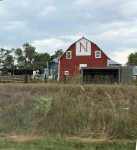 Red barn near Lincoln. Go cornhuskers, go!
